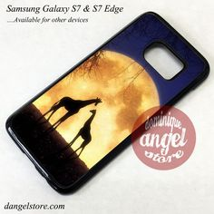 Giraffes Romantic Moon Phone Case for Samsung Galaxy S7 and Galaxy S7 Edge