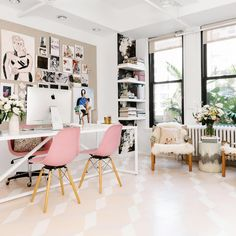 If you are one who works at home or remotely, then the presence of home office alias work space at home is a need worthy to consider. By having your own work space in your home, then you will feel … Cores Home Office, Home Office Colors, Pink Office, Home Office Design, Home Office Decor, House Design, Home Decor, Feminine Office, Office Designs