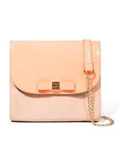 Peach bow bag