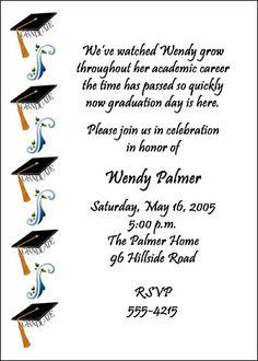47 best graduation invitations images on pinterest graduation graduation invitation wordings and etiquette filmwisefo
