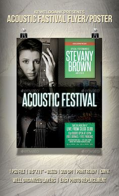 ◧ [Get Free]◰ Acoustic Festival Flyer / Poster Acoustic Acoustic Music Alternative Band Club Concert Festival Flyer, Acoustic Music, Event Flyer Templates, Grunge, Indie, Information Graphics, Kinds Of Music, Print Templates, Rock Music