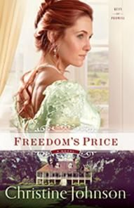 Christine Johnson's Keys of Promise series. An orphaned English heiress seeks fortune and family in America. Before she can claim either, she must get past the plantation overseer, who has designs on her and her inheritance.