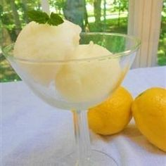 Lovely Lemon Sorbet to cleanse your palate after a meal!