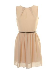 lovely simple champagne colored dress