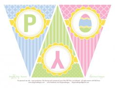 FREE Easter Party Printables from BluGrass Designs | Catch My Party