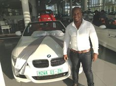 Mr. Sithloe picking up his new convertible BMW @SupertechDurban #HappyCustomers