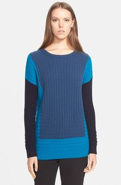 Vince Colorblock Intarsia Crewneck Sweater available at #Nordstrom
