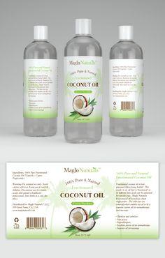 Label design for coconut oil   99designs