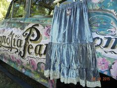 Authentic Magnolia Pearl Bloomers Silk Velvet with Lace   Old Label  Art to Wear