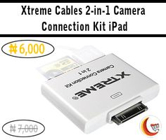 Xtreme Cables 2-in-1 #Camera Connection Kit #iPad at ₦6,000 . Shop it now from Blessing Computers Limited Click here : http://www.blessingcomputers.com/products/7PDHC0WZQHECIWOK-Xtreme-Cables-2-in-1-Camera-Connection-Kit-iPad.html