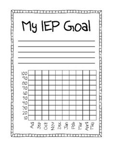 IEP Goal - Student Data - Kayla Meikle - TeachersPayTeachers.com