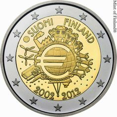 2 Euro Commemorative Coins Finland 2012, Ten years of Euro cash