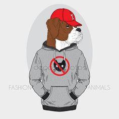 Stáhnout - Ručně tažené módní ilustrace vystrojení boxer — Stocková ilustrace #40288565