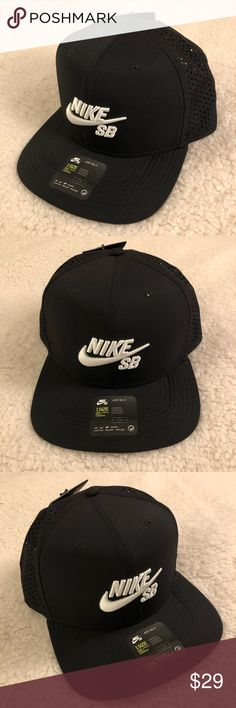 huge discount 792f0 cc411 NIKE SB Dri-Fit Mens Baseball Hat Cap Black NIKE SB Dri-Fit Black