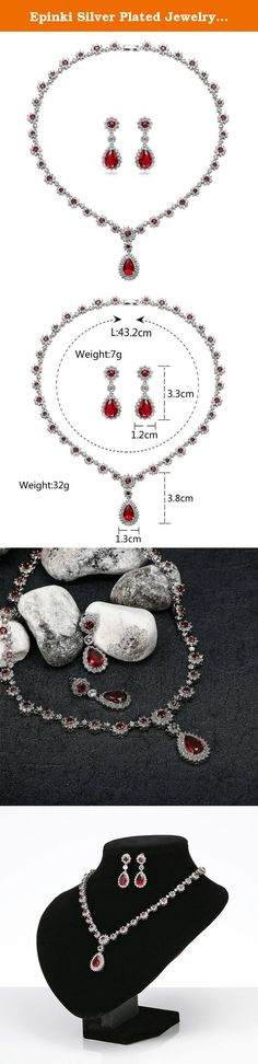 Epinki Silver Plated Jewelry Set, CZ Flower Teardrop Crystal Red Earrings And Necklace Set For Girls. Why choose Epinki Jewelry? About the product: Material: All the products in our store made from high quality material,and wear comfortable; As a gift: You don't have to worry about the present for friends, jewelry is timeless. Product Color: The same as the picture.(Maybe a little chromatic aberration) About our service: We will do our best to solve any problems and provide you with the…