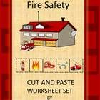 Fire Safety Cut and Paste Worksheets- Pre- K, K and Special Education contains 16 worksheets. This Fire Safety Cut and Paste  set can be used to te...