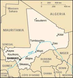 Country Maps: Map of Mali