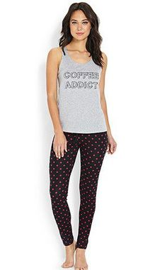 4c1ca5442cf6 Forever 21 Knows You Need Coffee With These Caffeinated PJs Under  16 Pj  Sets