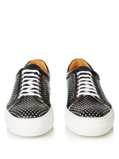 Armando Cabral Broome perforated leather low-top trainers