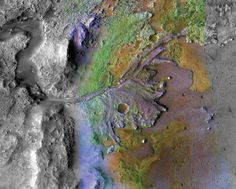 Mars's Jezero crater, a impact basin, will soon be home to NASA's Mars 2020 rover. A major mission component of Mars 2020 will be to examine whether Jezero crater hosted microbial l… Nasa Photos, Nasa Images, Mission Mars, Curiosity Rover, Planetary Science, Life On Mars, Image Of The Day, Sistema Solar, Space And Astronomy