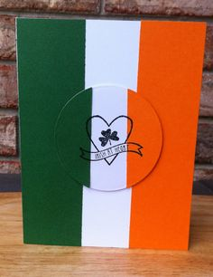 Hamilton's Handmade Irish Flag Irish At Heart St. Patricks Day Card