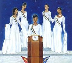 Sisters of the Light (Order of the Eastern Star) by Johnny Myers inches - Unframed Art Print) Ernie Barnes, Masonic Order, Walk In The Light, Star Pictures, Work Pictures, Eastern Star, Light Images, African American Art, Black Art