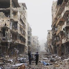 This is Aleppo in Syria. The mass destruction of humans and infrastructure, is a humanitarian, environmental and architectural disaster unprecedented in modern times.