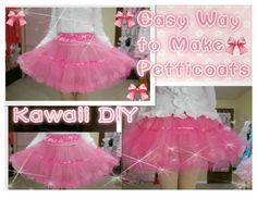 Kawaii DIY- How to Make Petticoats for Beginners (with only 3 yards tull...