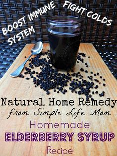 This recipe adds clove powder and the juice of 1/2 lemon. Natural Cold Remedy: Homemade Elderberry Syrup Recipe