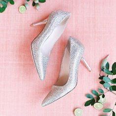 Glitter wedding shoe