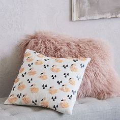 Mongolian Lamb Pillow Covers #westelm