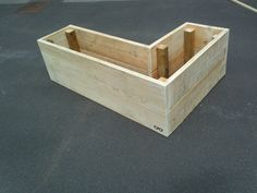 Classic upcycled scaffold board planter