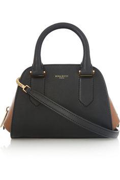 Nina Ricci|Elvida mini two-tone leather shoulder bag|NET-A-PORTER.COM