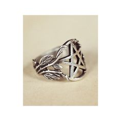 Available in both silver and bronze, the face of the ring is an encircled pentagram with the band made up of vines and leaves which creep up and wrap around pa…