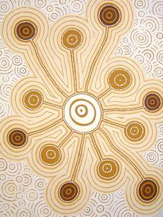 Walangari Karntawarra ~ Jukurrpa Dreaming, 2010 brown beige