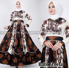 62 Model Gamis Batik Terbaru Populer 2020 – CuanLagi.Com Hijab Fashion, Fashion Dresses, Girls Dresses Sewing, Kebaya Muslim, Bohemian, Hijab Ideas, Blouse, Model, How To Wear