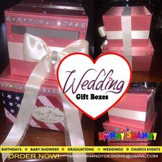 Attending Weddings? Hurry We have handmade Designs Wedding Gift Boxes!! ‪#‎personalized‬ ‪#‎wedding‬ ‪#‎gift‬ ‪#‎boxes‬ ‪#‎handmade‬ Email handyshandydesigns@gmail.com NOW!