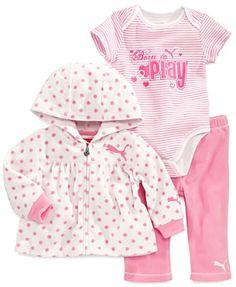 Puma Baby Girls' 3-Piece Jacket, Bodysuit & Pants Set - Kids - Macy's