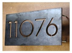 The Monroe House Numbers – Steel Modern Metal Address Plaque Plate House number, numerals, laser cut, metal, black Address Numbers, Address Plaque, Door Numbers, Metal House Numbers, Signage Design, Metal Homes, Home Signs, House Front, House Painting