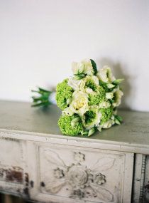 peonies and green hydrangea
