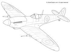 Image Result For Spitfire Coloring Pages Coloring Pages Vintage Planes Art