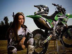Motocross Rider Sara Price. Hottest motocross girl rider. #getting better #girlsthatride..... :)