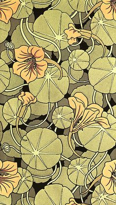 Floral, pre-raphaelite