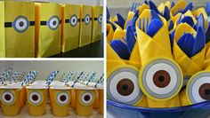 Descarga e imprime decoración para una fiesta de cumpleaños infantil de Minions.