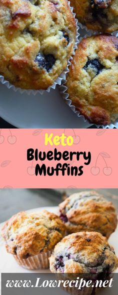 These keto muffins are a bit labor intensive, but they're a delicious way to kick off the day… Ingredients [ For 7 to 8 people ] [ Preparation time : 22 minute – Cooking time : 35 minutes ] CREAM TOGETHER ½ stick oz) butter,. Keto Foods, Ketogenic Recipes, Keto Snacks, Ketogenic Diet, Paleo Diet, Keto Diet Meals, Paleo Vegan, Keto Blueberry Muffins, Blueberry Recipes