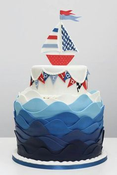 Nautical the icing layers !! Nautical but nice!