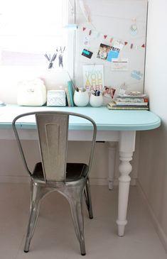 Heart Handmade UK: Cottage Chic Desk Makeover | The Happy Home Blog