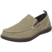 11e78d15a47 Crocs Men s Walu Relaxed Slip M Us  Slip-on loafer with canvas upper  featuring moc-toe stitching