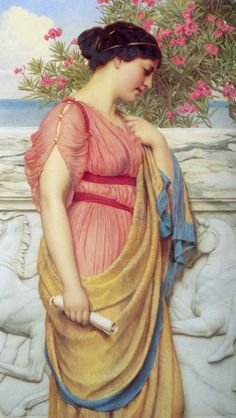 This is a picture of the fashion of the women in the Archaic Period. They wore long, draping gowns called ionic chitons.