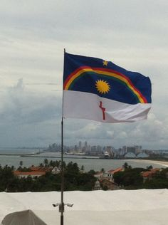 Bandeira do Estado de Pernambuco. Olinda, Recife, Brasil